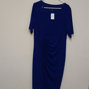 Connected Apparel blue dress